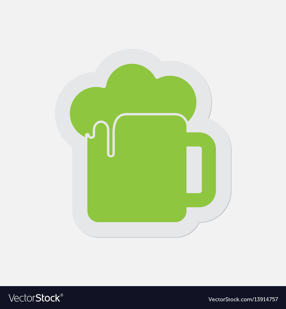 Simple green icon - beer with foam