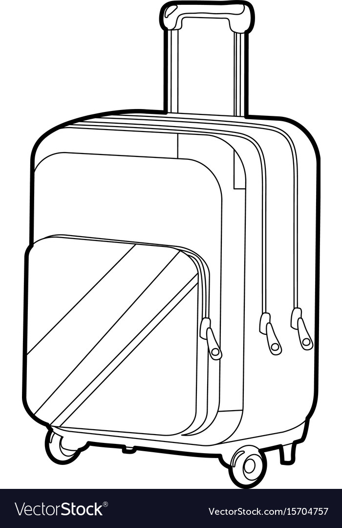 Travel suitcase icon outline