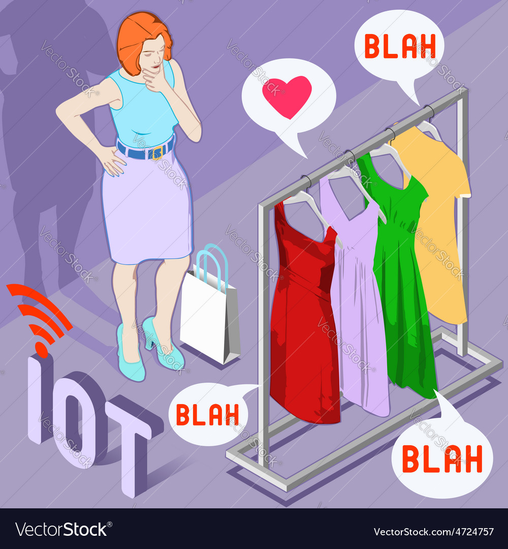 Wearable Fashion Iot Brand vector image
