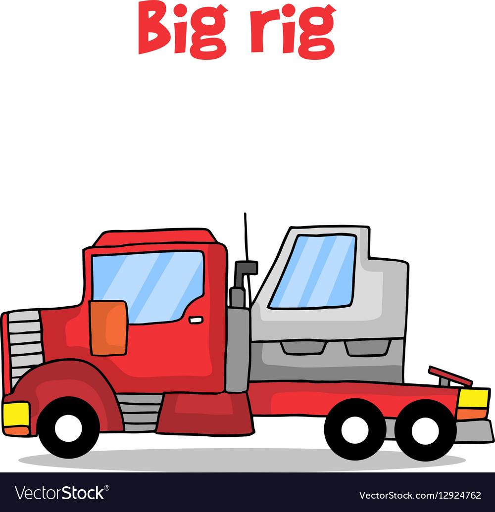 Cartoon big rig transportation
