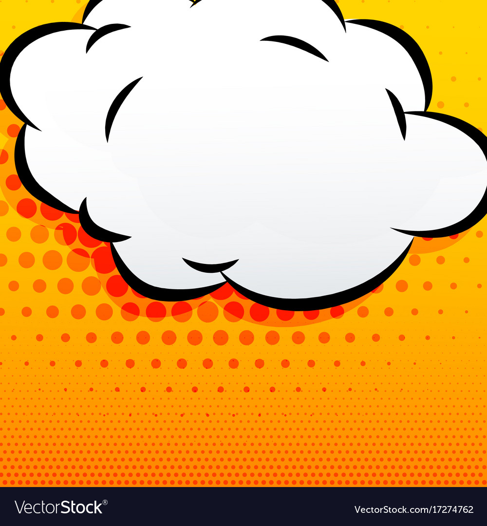 Cartoon cloud comic style background vector image