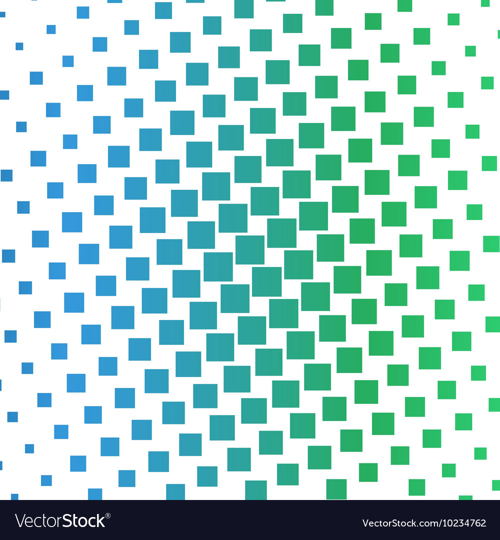 Color squares halftone gradient pattern
