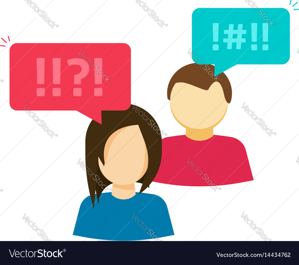 Couple man and woman arguing people