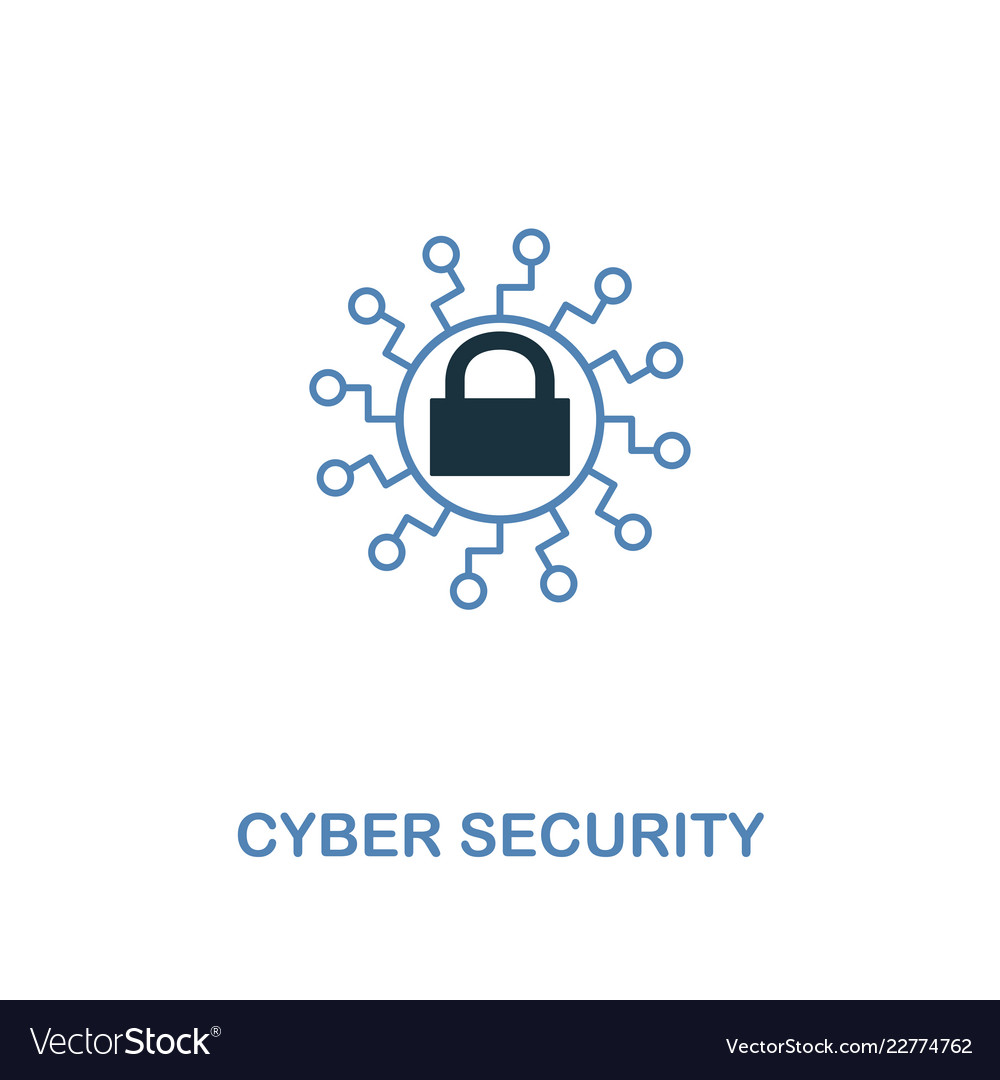 Cyber security icon in two colors premium design