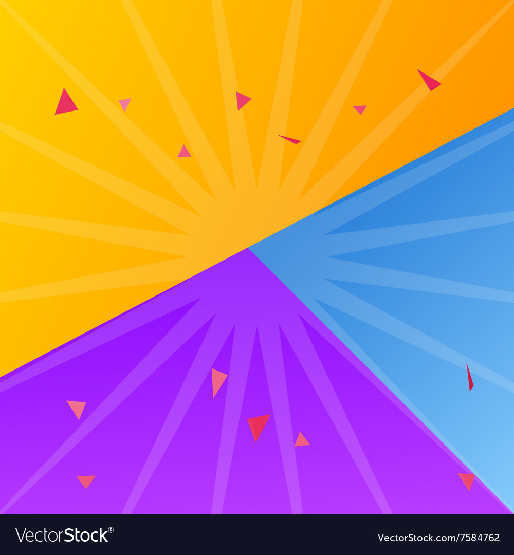 Different Color Paper Sheets Background Of Yellow Vector Image