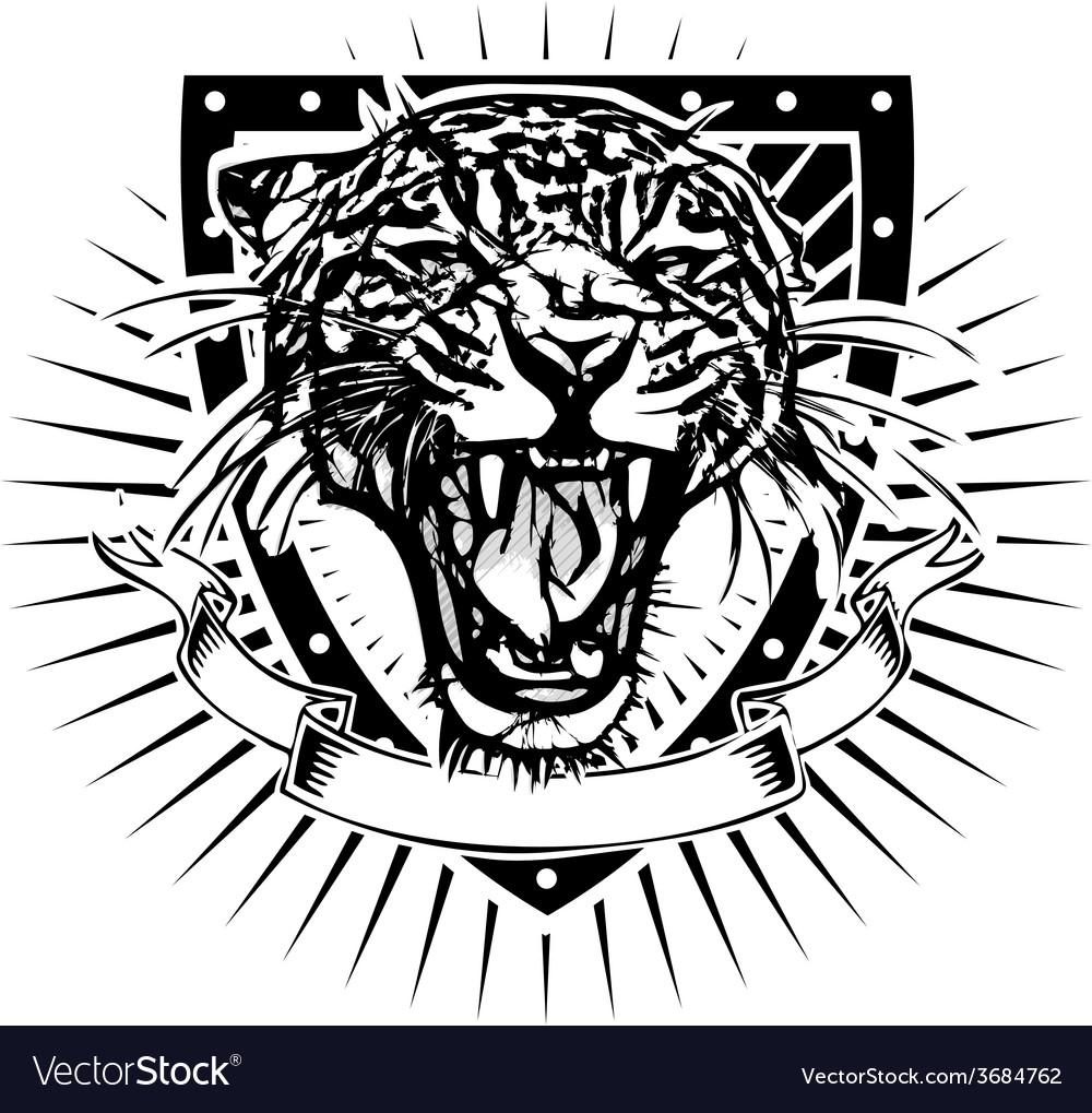 Jaguar shield vector image