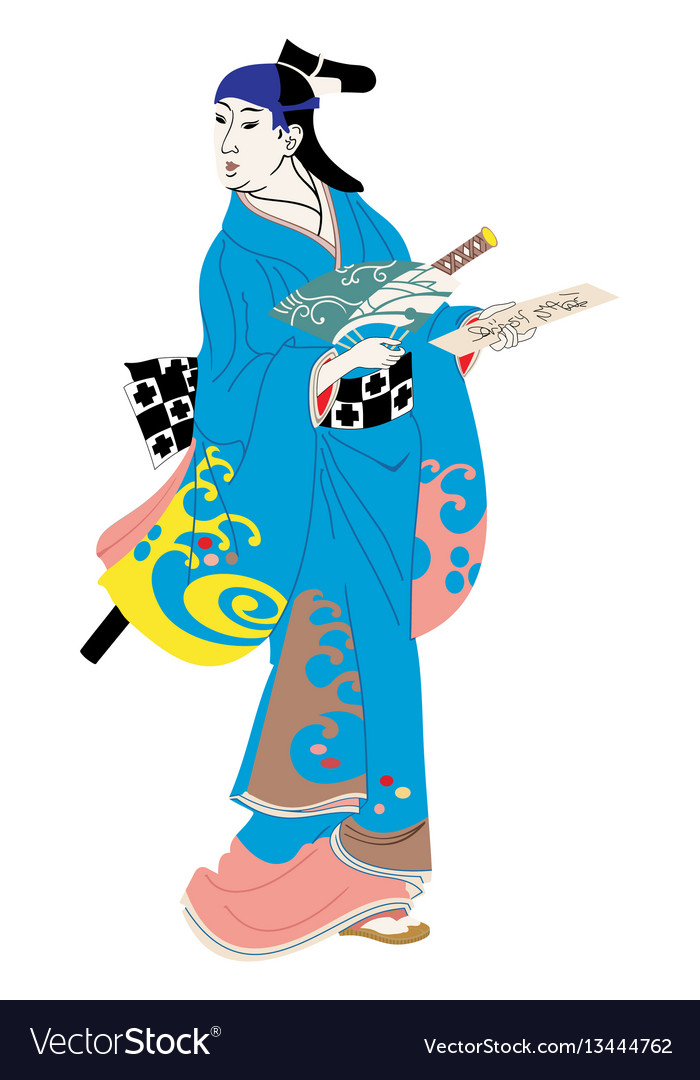 Japanese woman in national dress