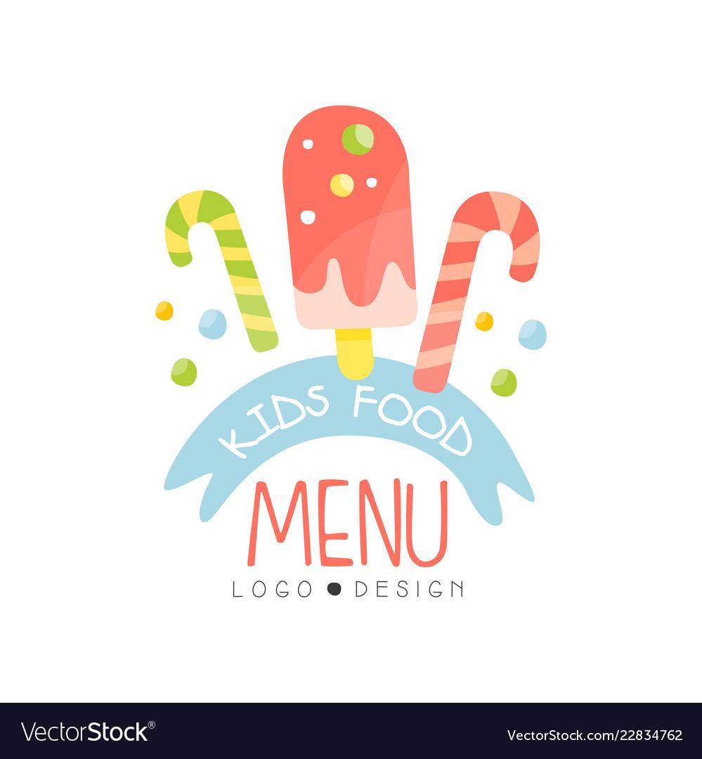 Kids menu logo design healthy organic food