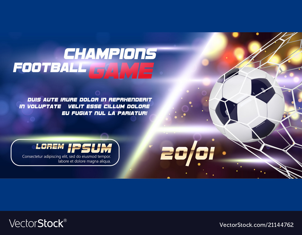 Soccer or football wide banner or flyer design
