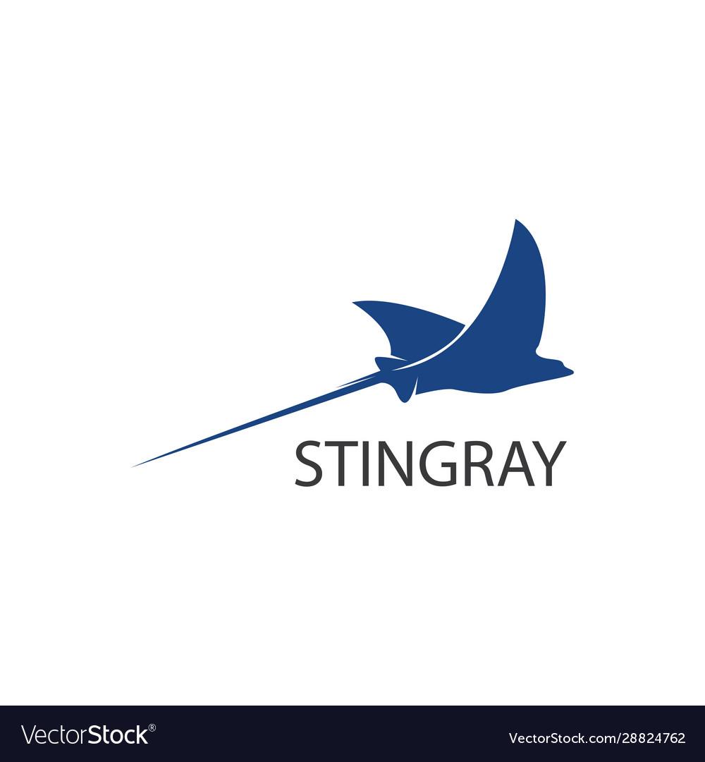 Stingray logo flat design