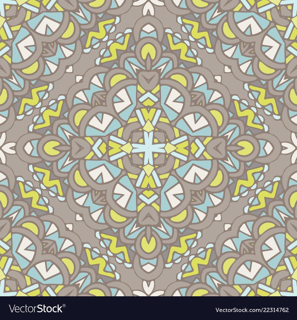 Vintage floral seamless pattern tile