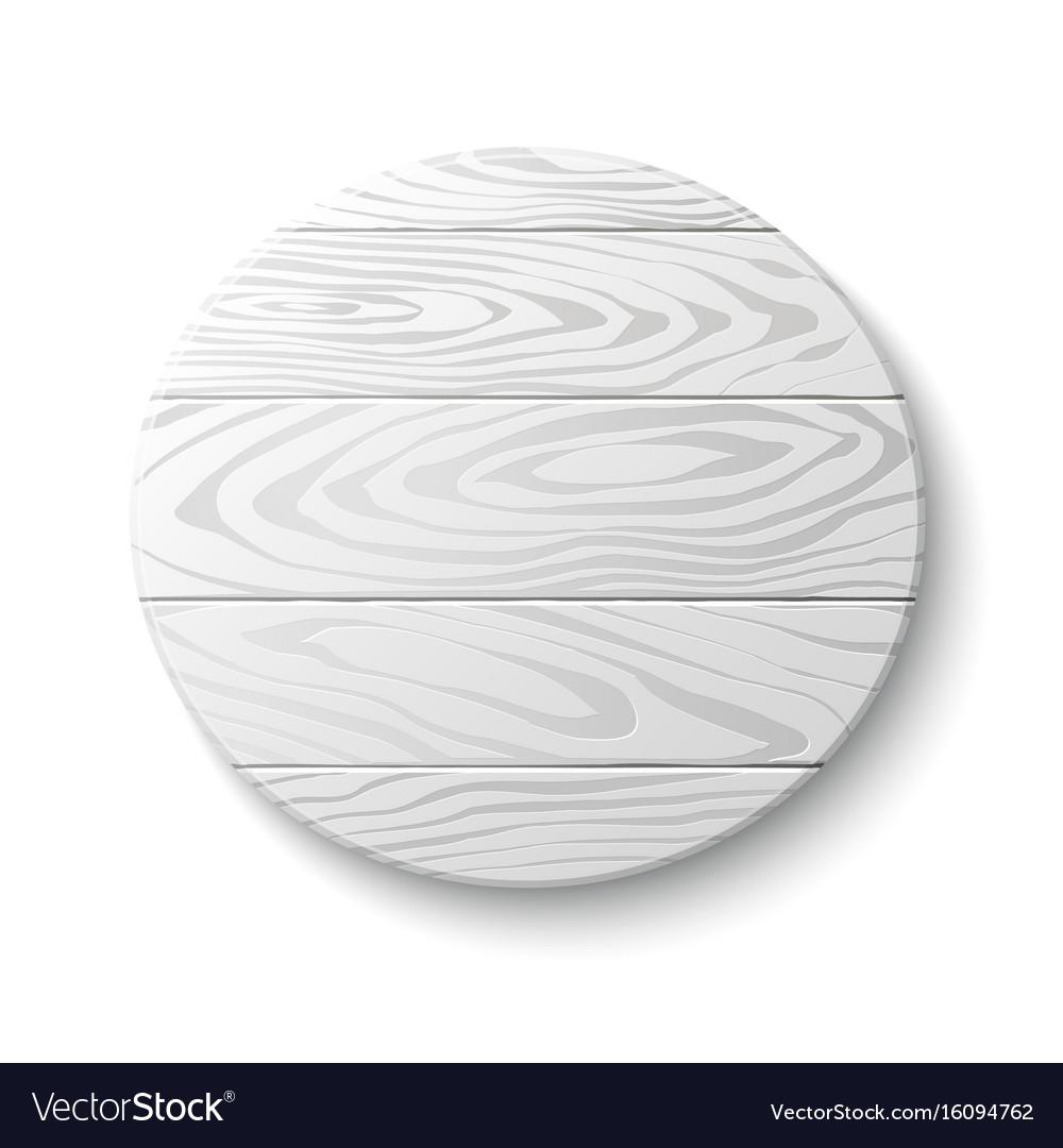 Wooden circle emblem