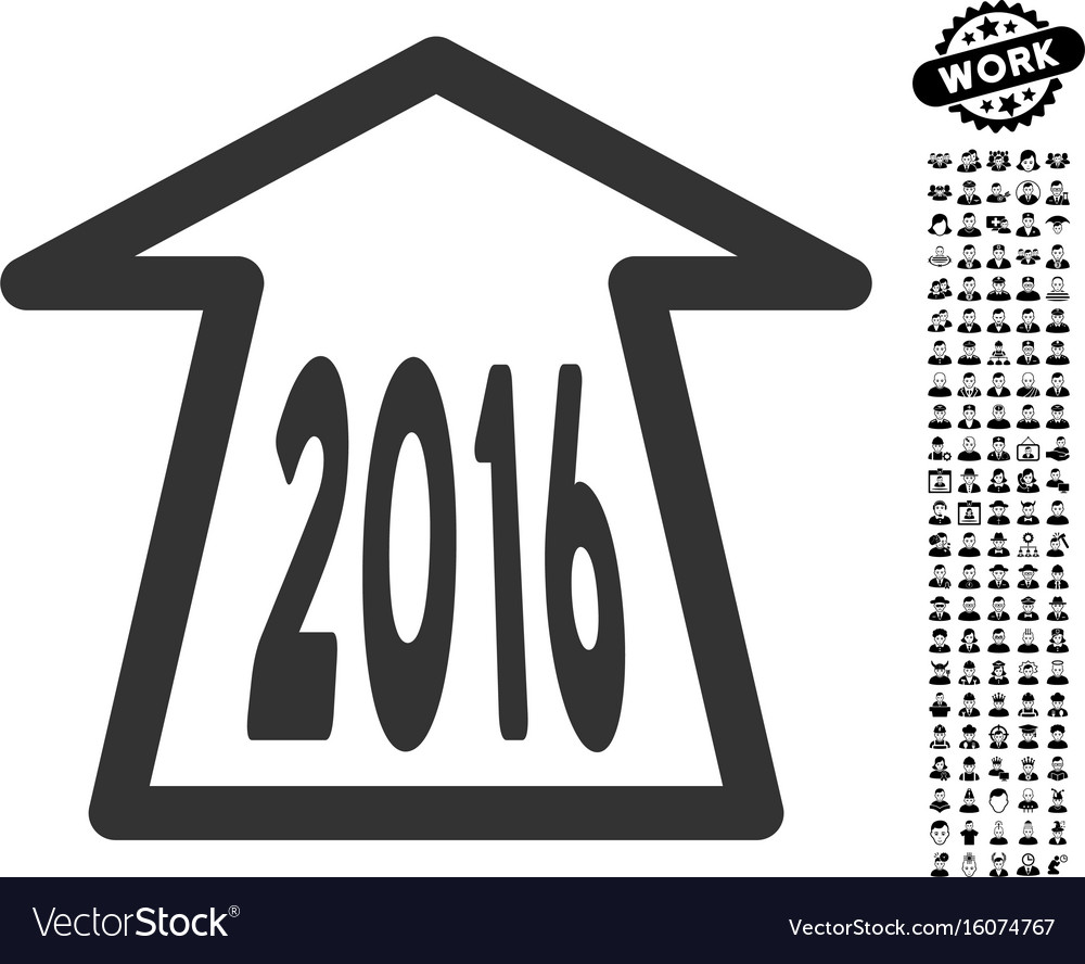 2016 ahead arrow icon with professional bonus vector image