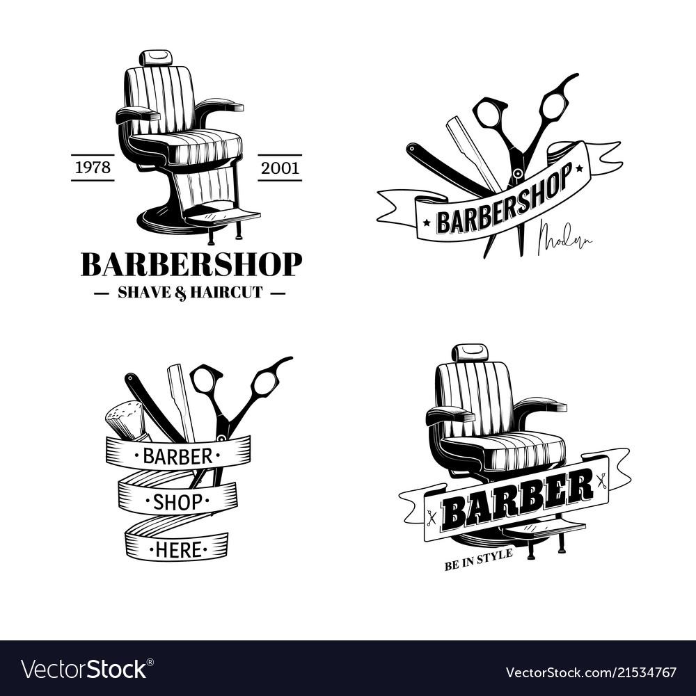 Barber shop labels