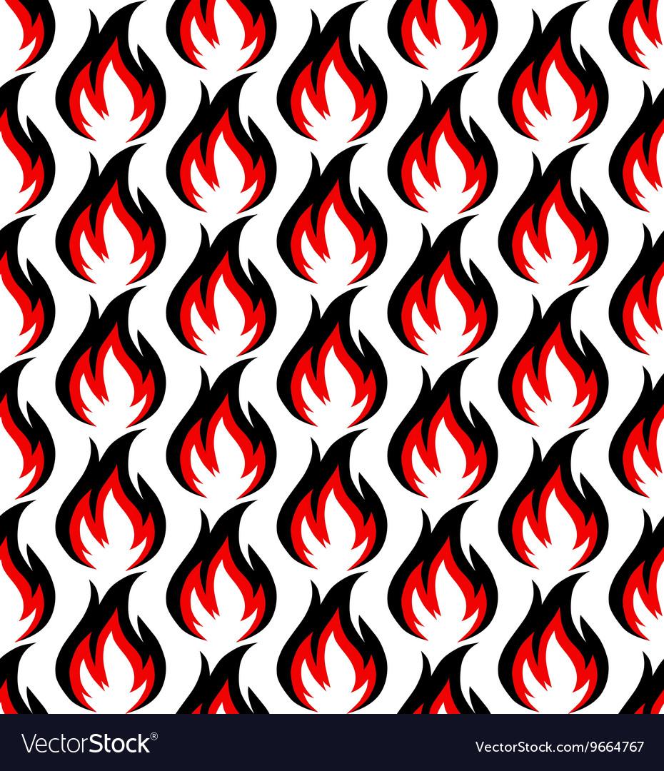 Fire symbols seamless pattern