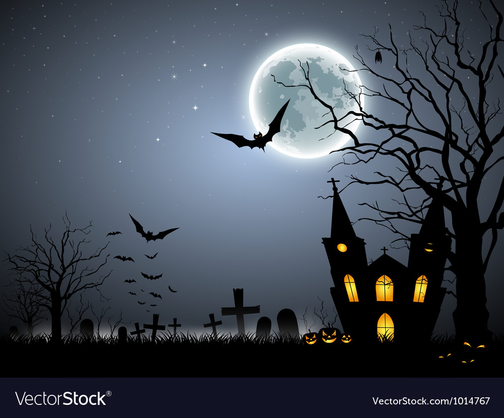 halloween scary background royalty free vector image