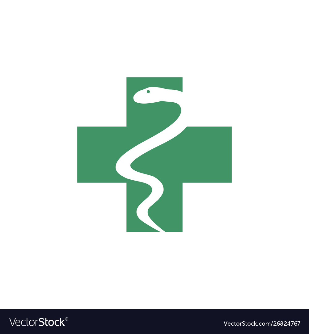 Medical snake graphic design template isolated