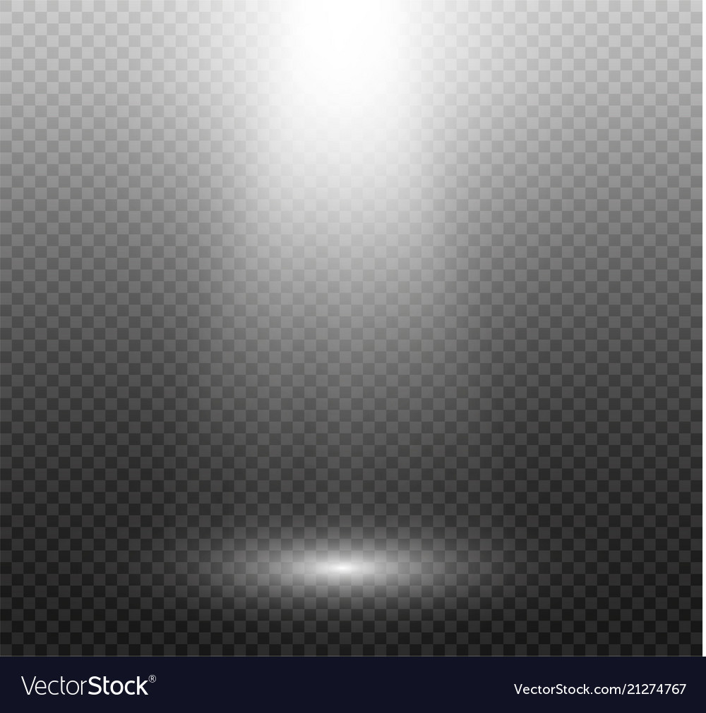 Set of golden glowing lights effects isolated on
