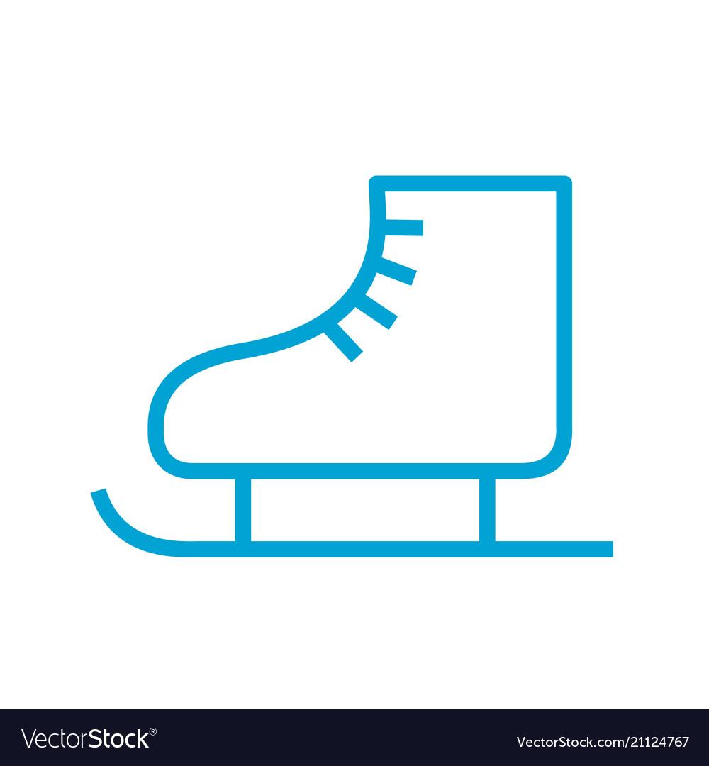 Skates icon line style