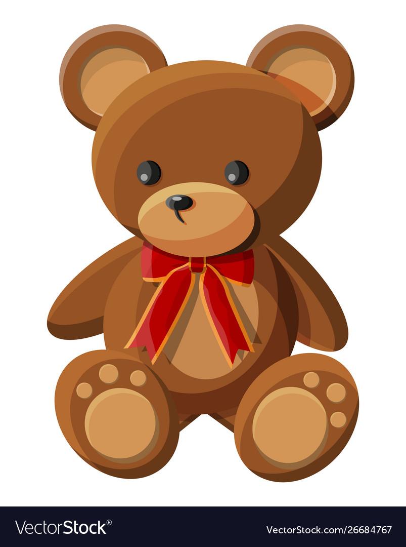 Teddy bear with bow bear plush toy