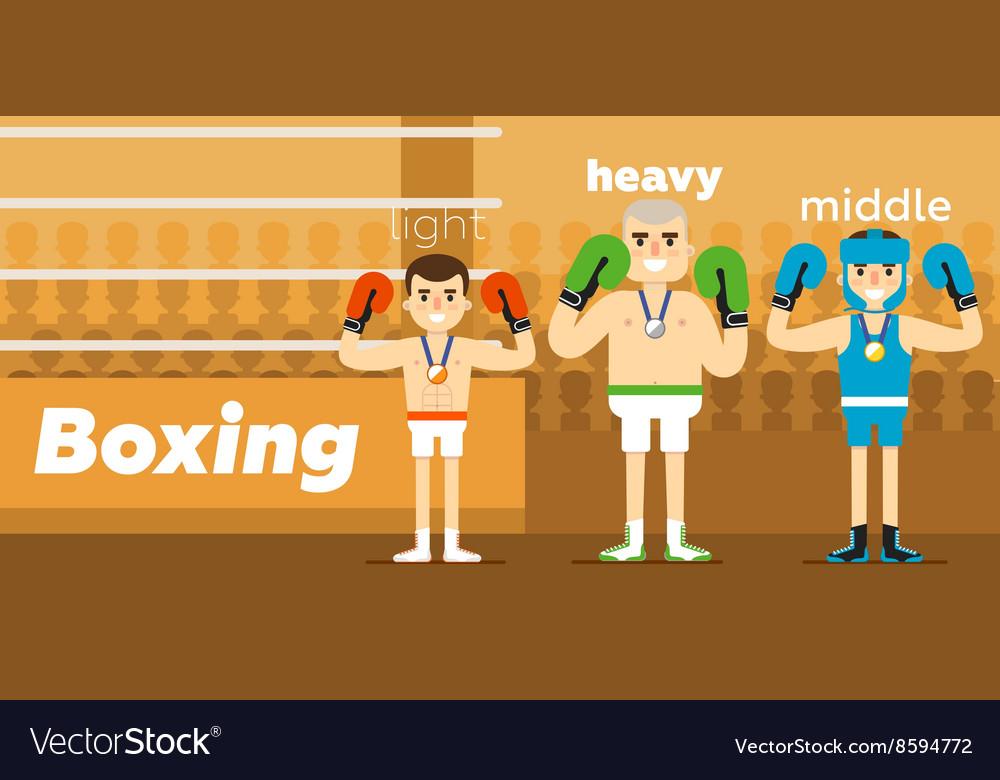 Boxing team awarding at ringside
