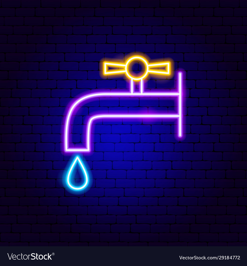 Faucet neon sign