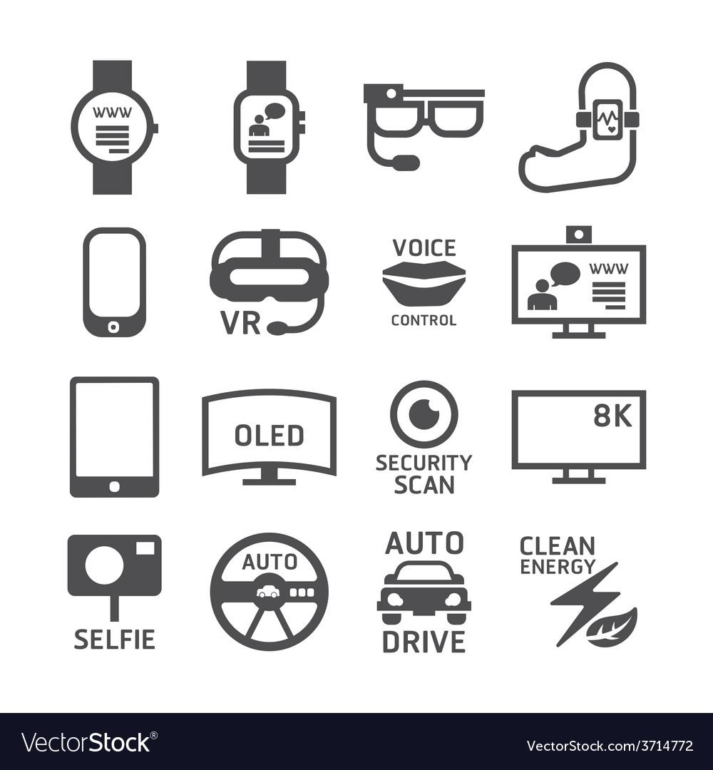Icons set technology design