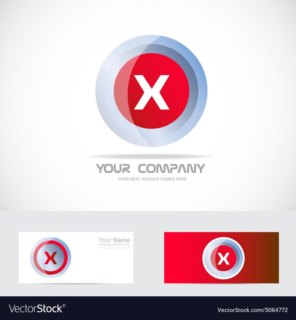Letter X red logo