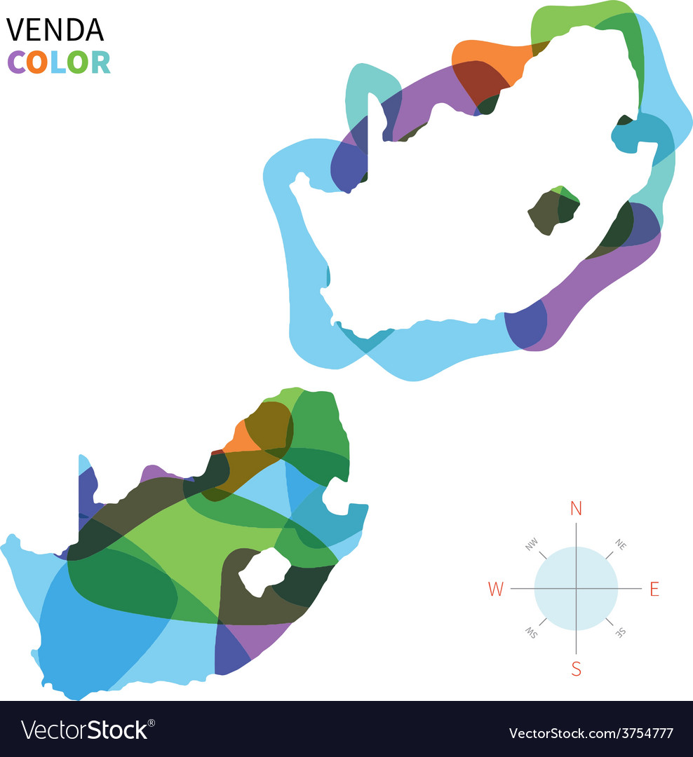 Abstract color map of Venda vector image