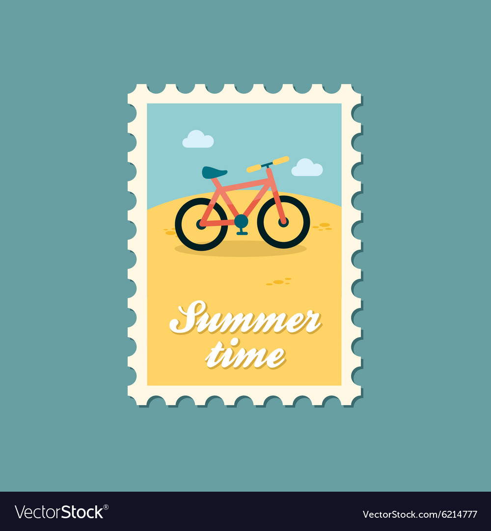 Bicycle flat stamp