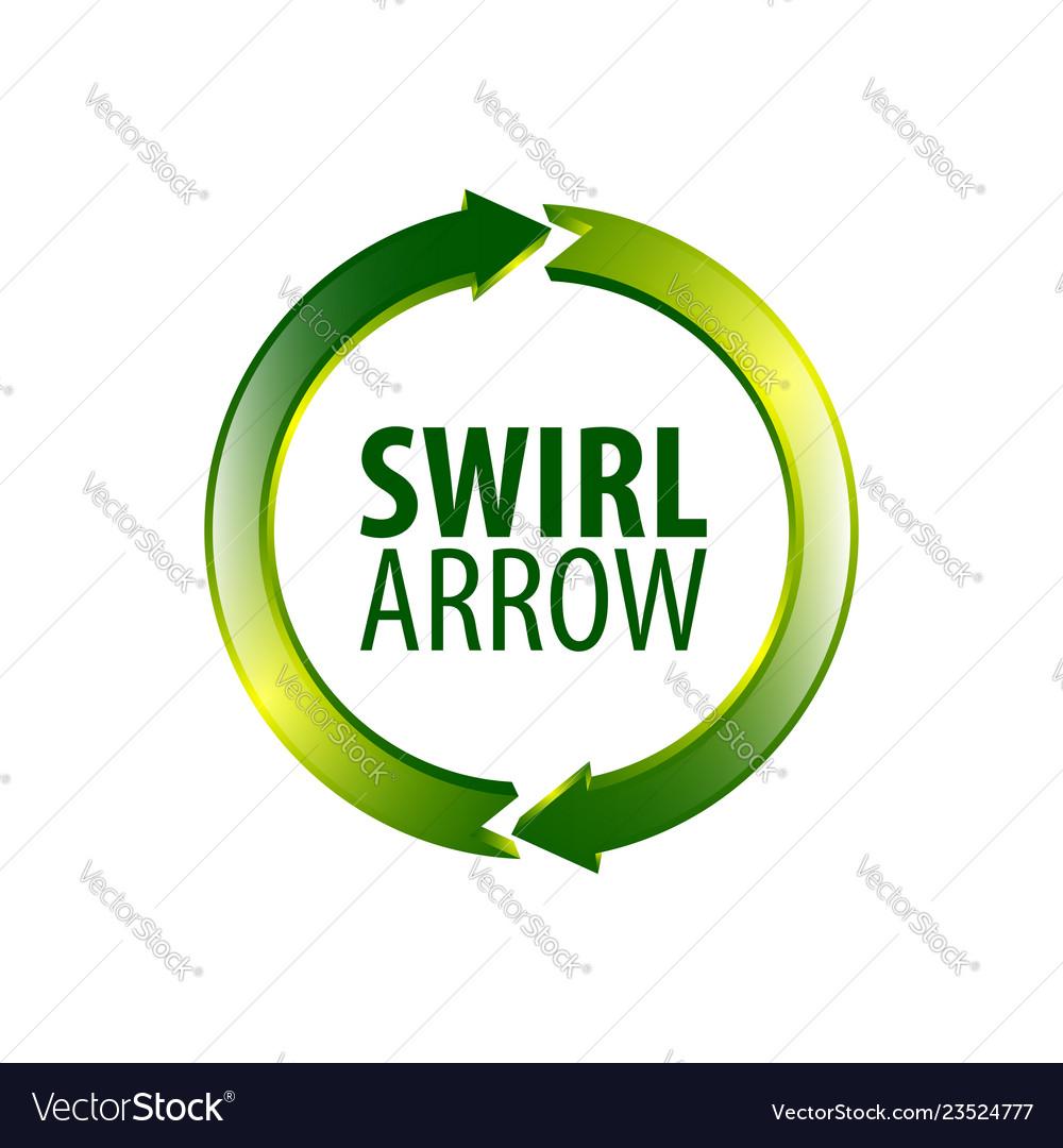 Circle swirl arrow logo concept design symbol