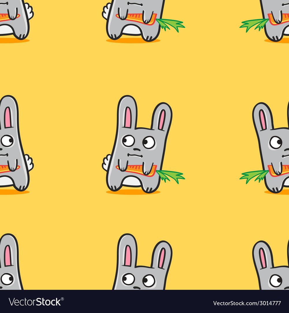 Funny cartoon bunnies seamless pattern
