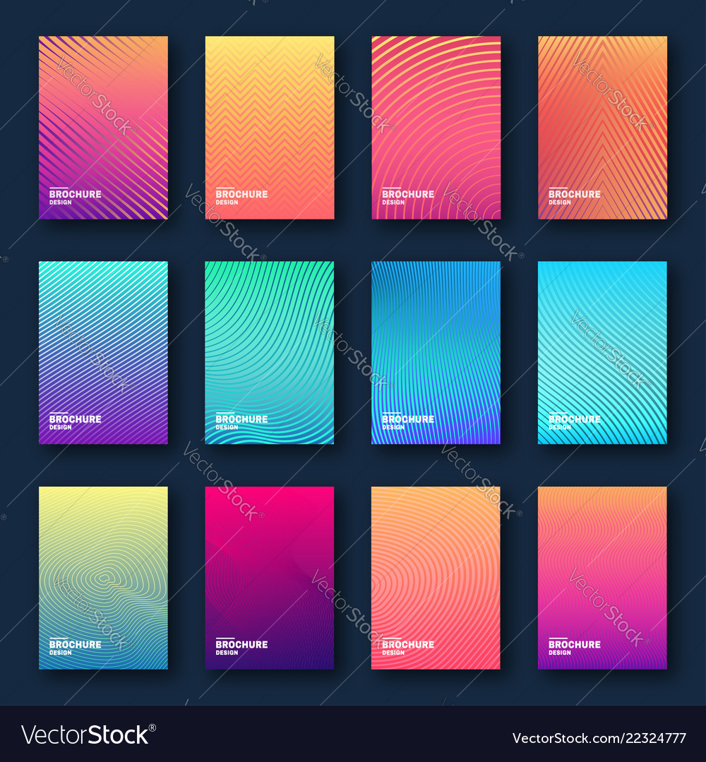Minimal cover design halftone gradients abstract