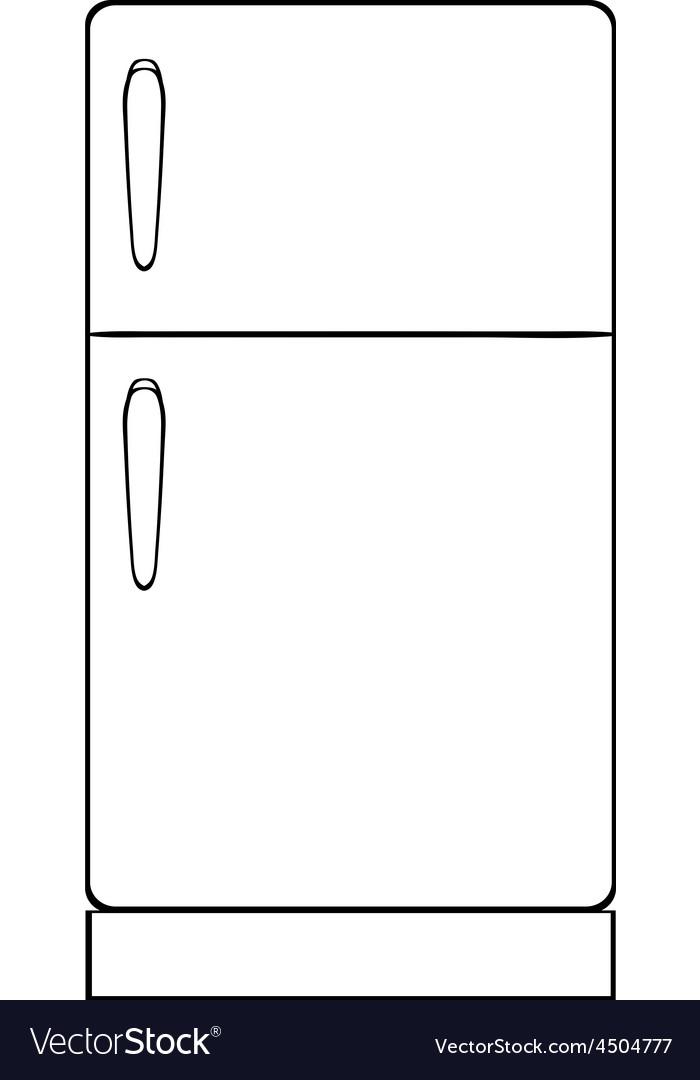 картинка холодильника для раскраски работа требует
