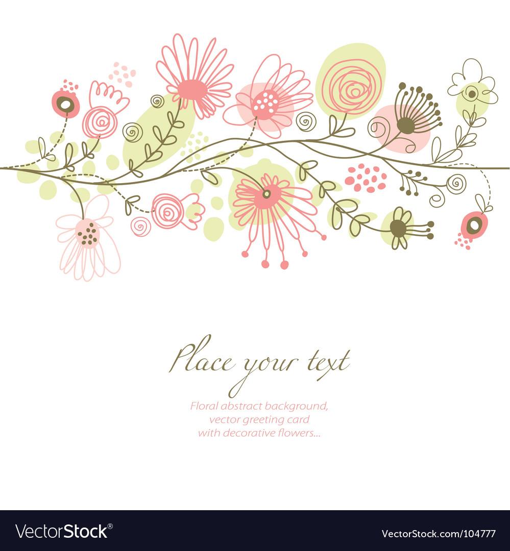 Romantic floral illustration