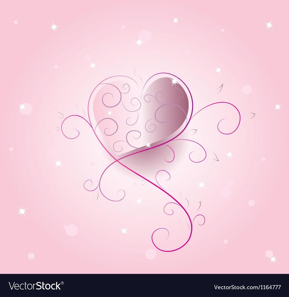 Romantic heart vector image