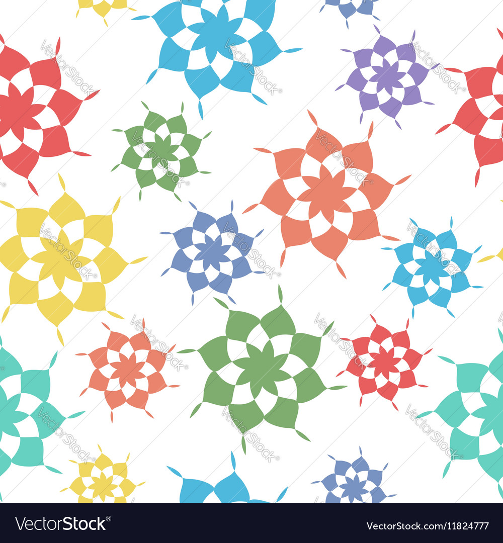 Seamless pattern abstract shapes vector image