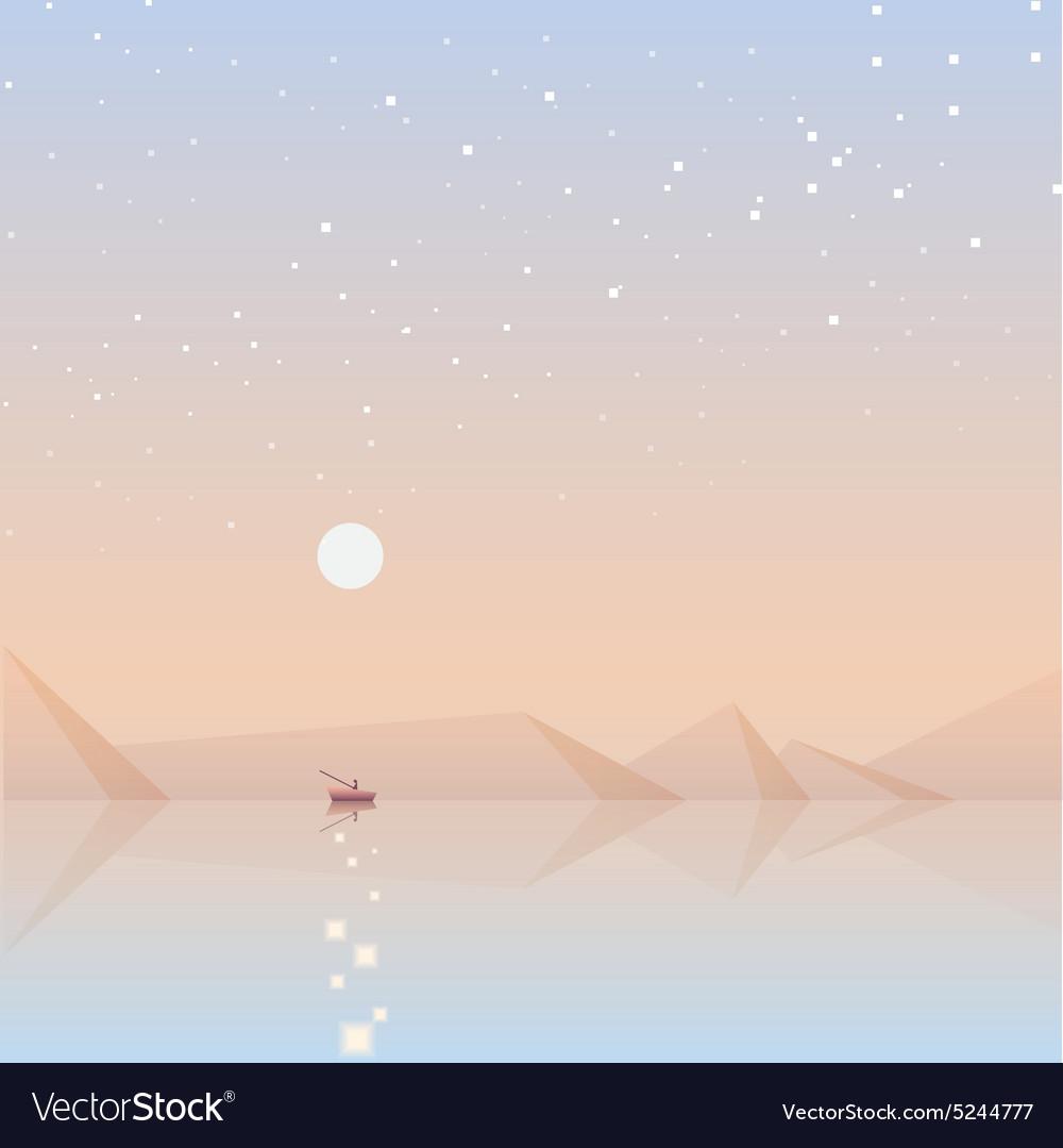 Soft landscape background vector image
