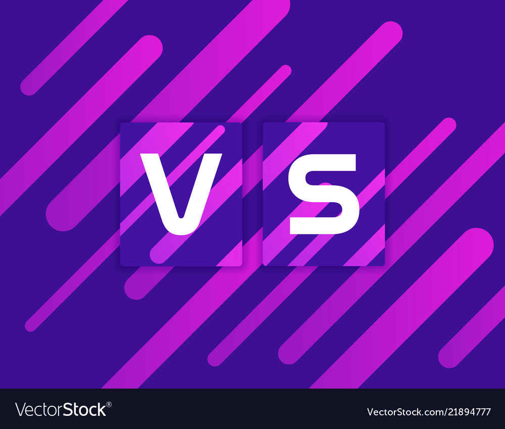 Versus vs on colorful geometric background