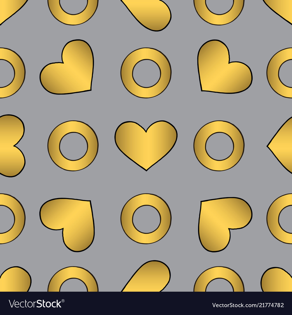 Abstract golden seamless pattern for