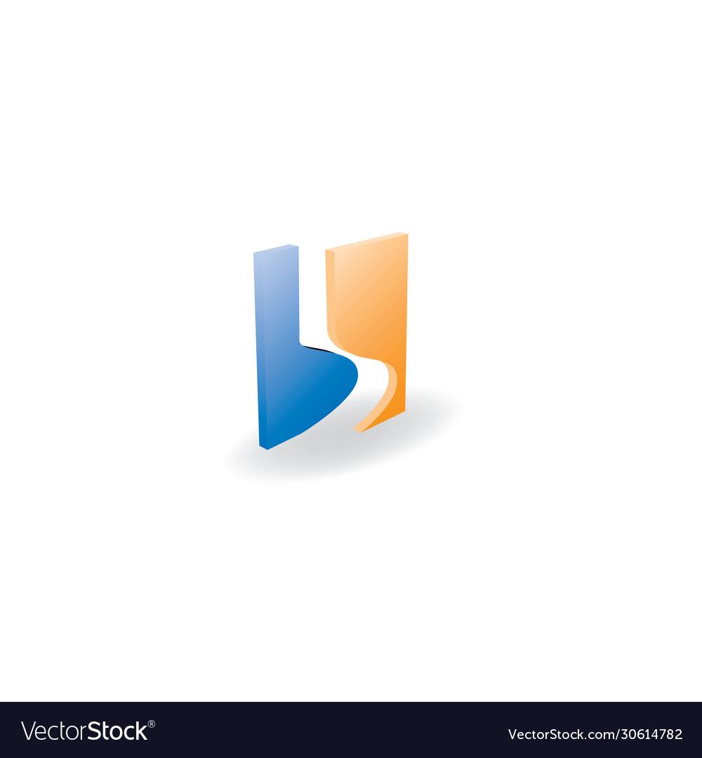 B letter 3d logo design