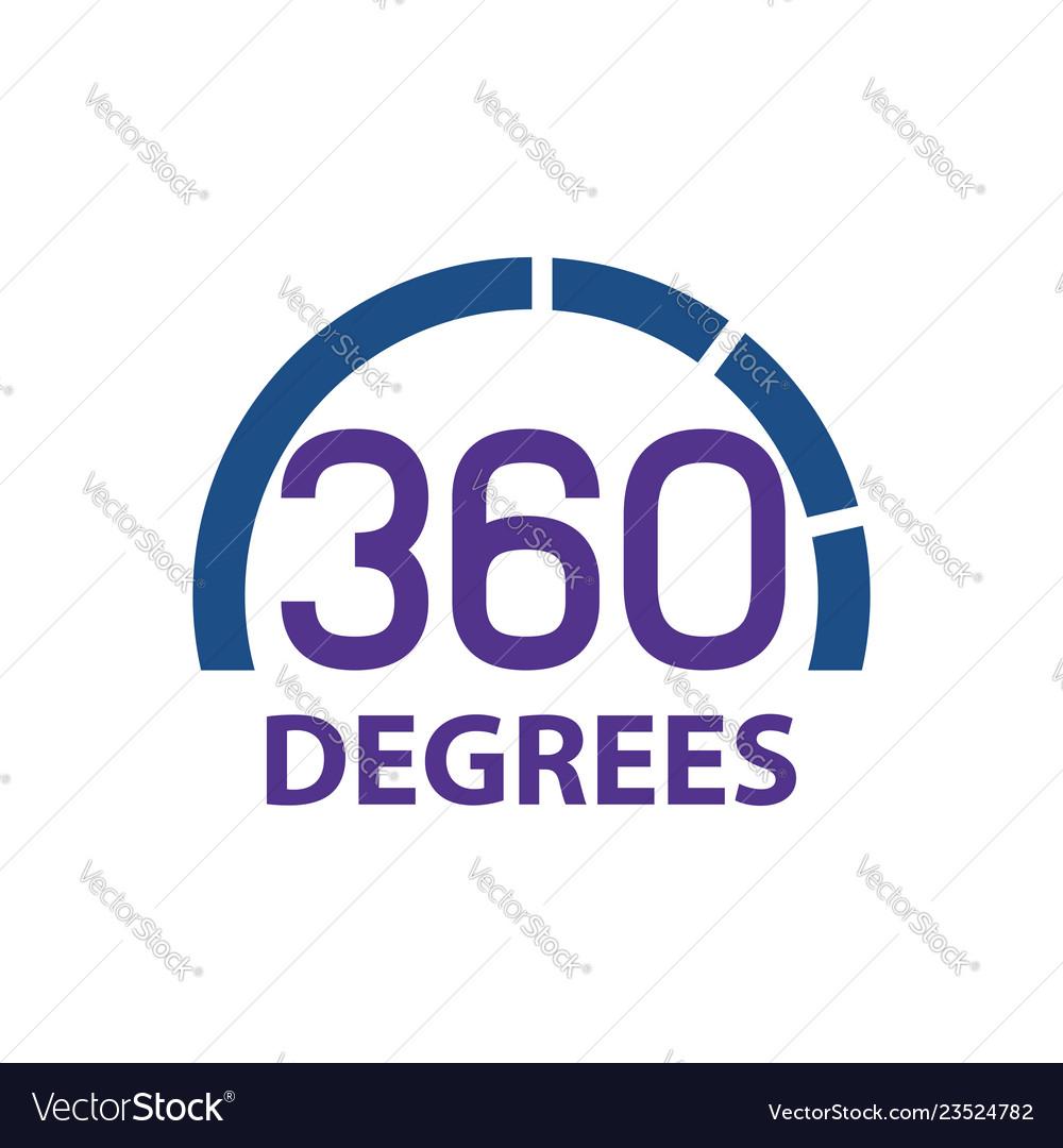Circle 360 degrees logo concept design symbol
