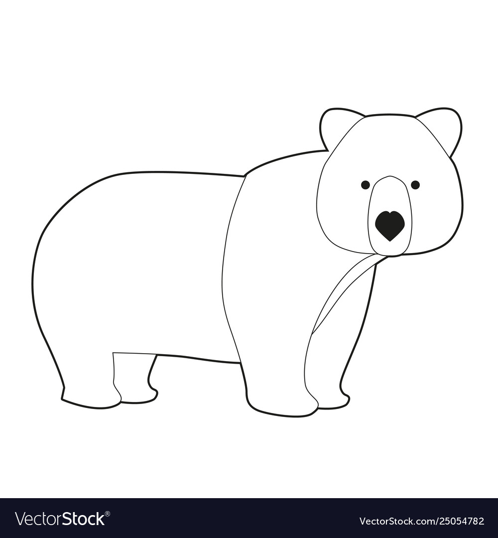 photo relating to Brown Bear Brown Bear Printable Book Pdf referred to as Humorous brown undertake inside of cartoon style and design isolated upon