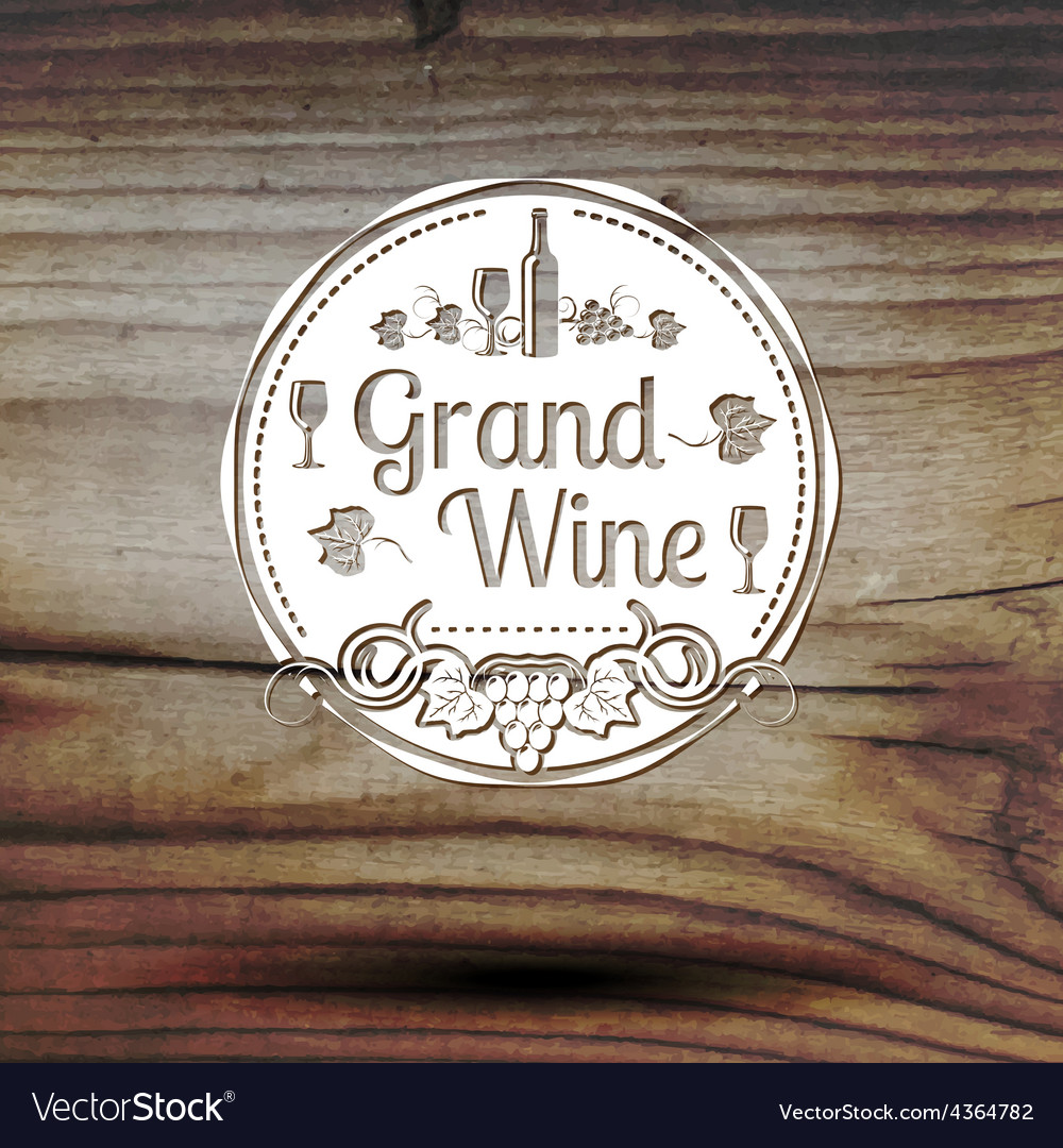 Old styled wine label for your business shop