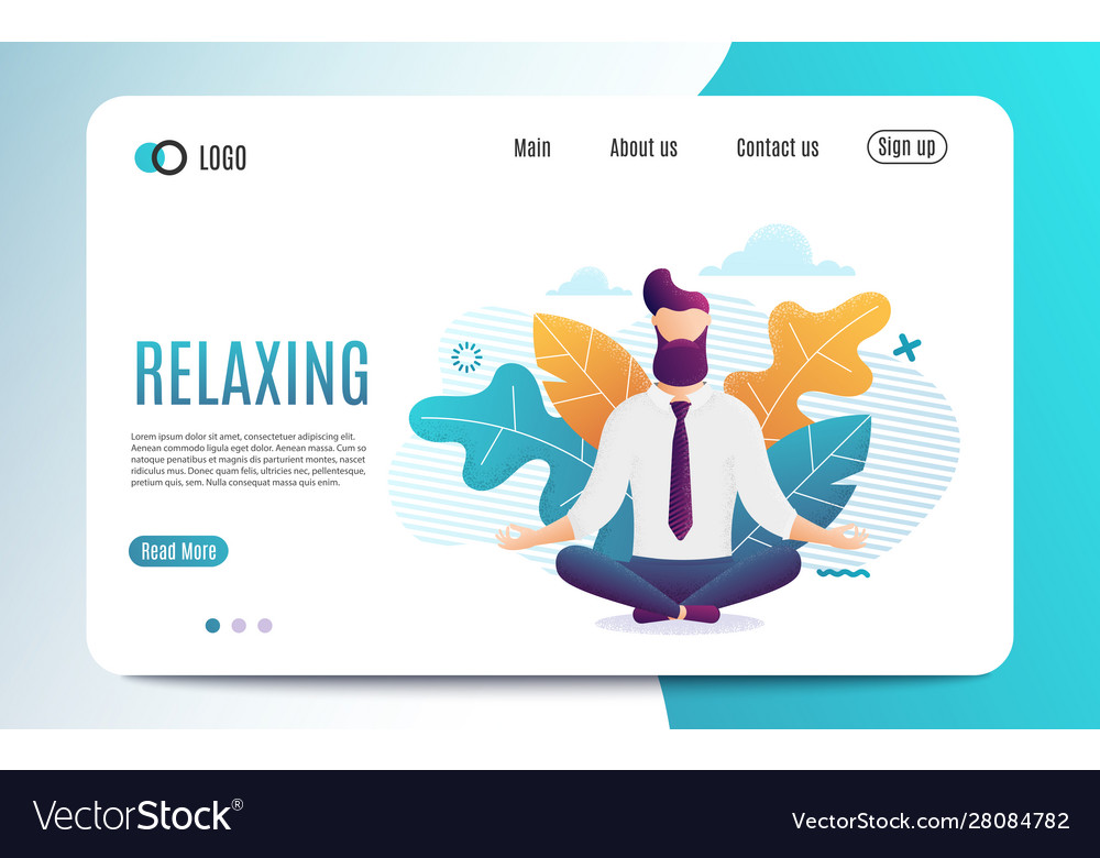 Relaxing And Stress Relief At Workplace Cartoon Vector Image