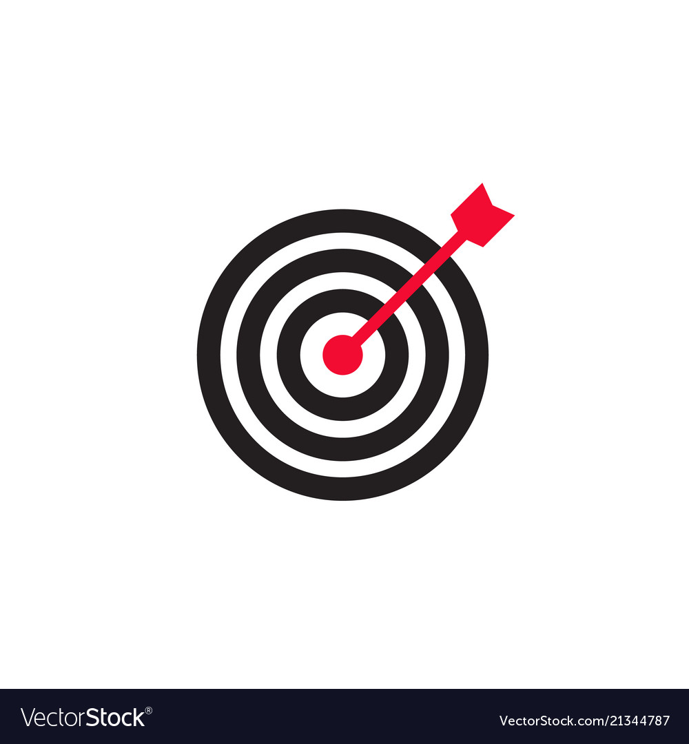 Arrow in center of target icon