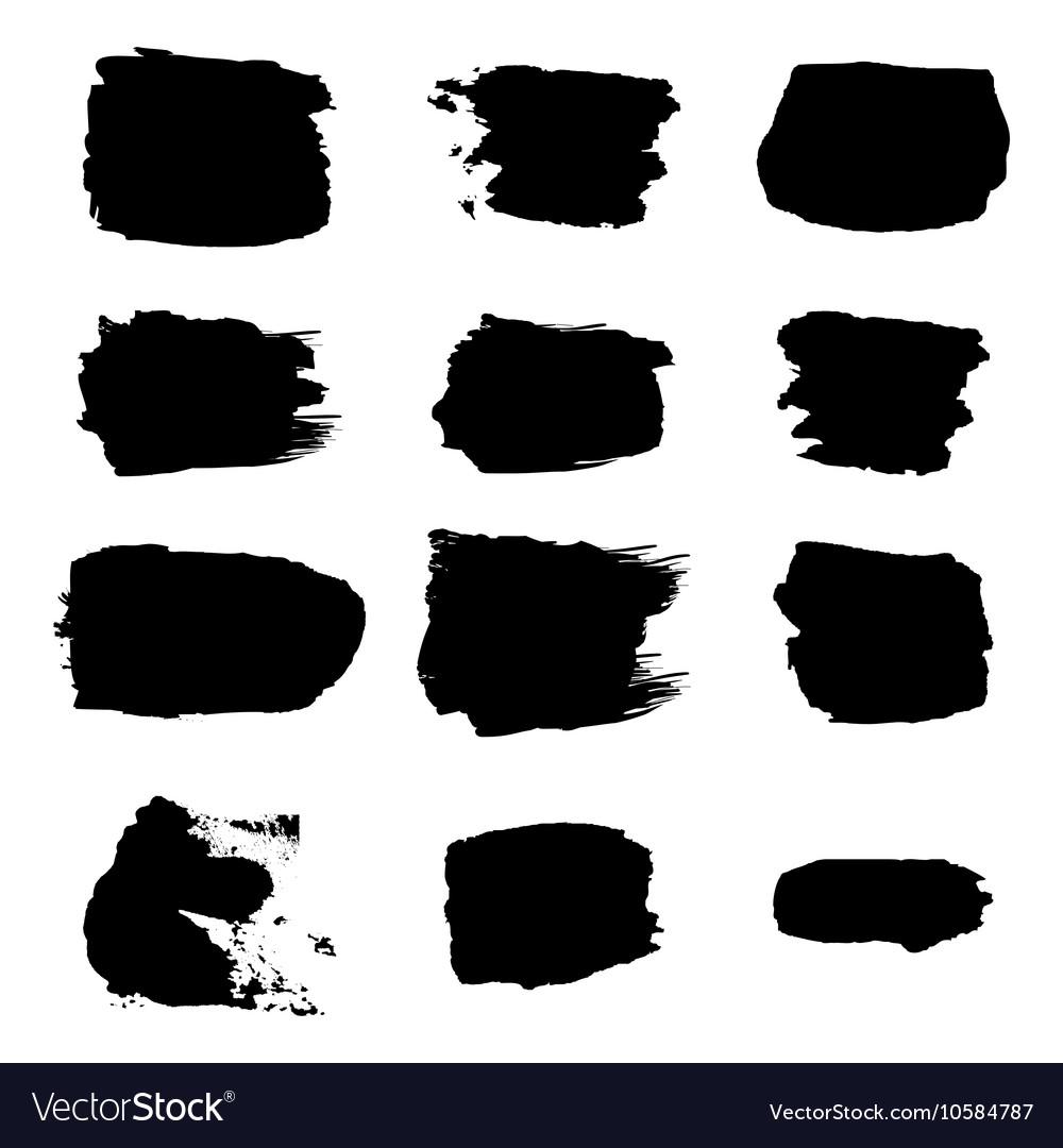 Brush stroke black abstract white background