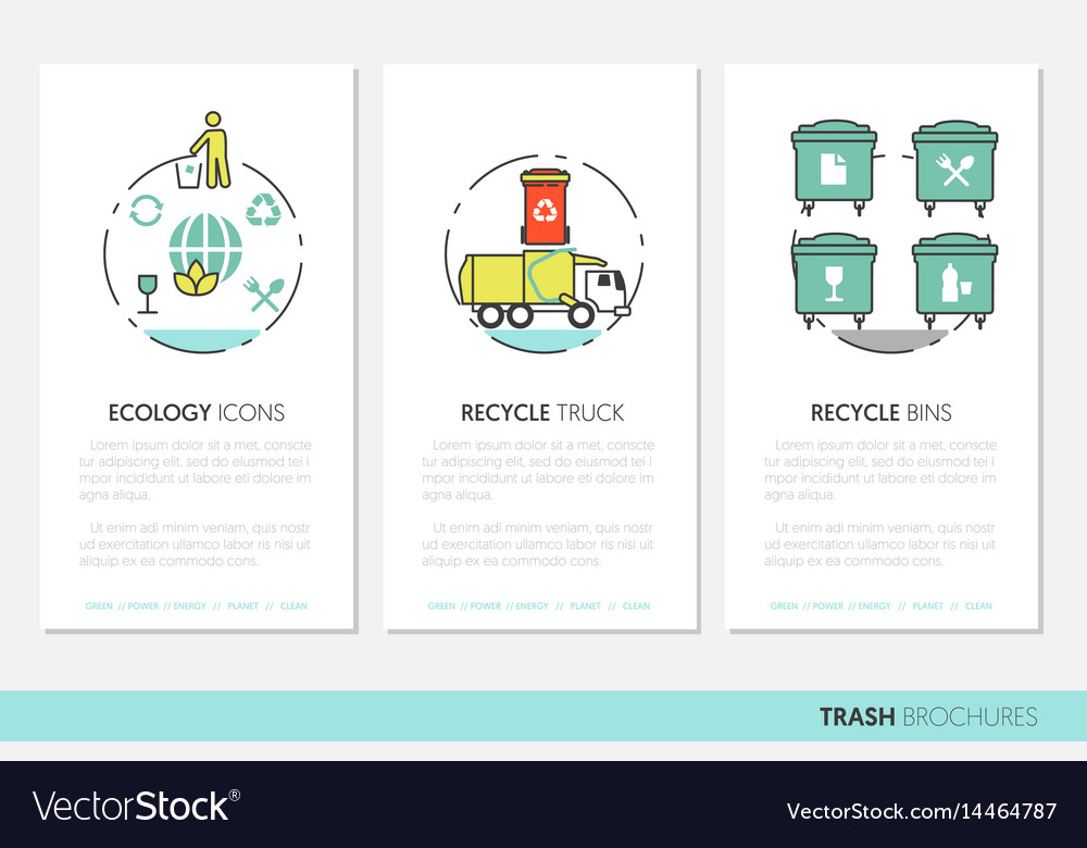 garbage waste recycling business brochure template