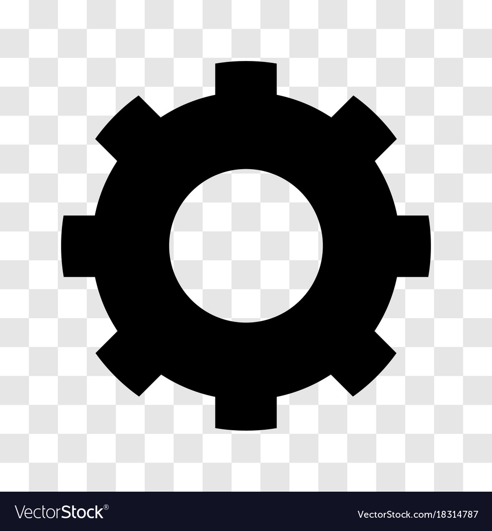 Gear icon - iconic design Royalty Free Vector Image