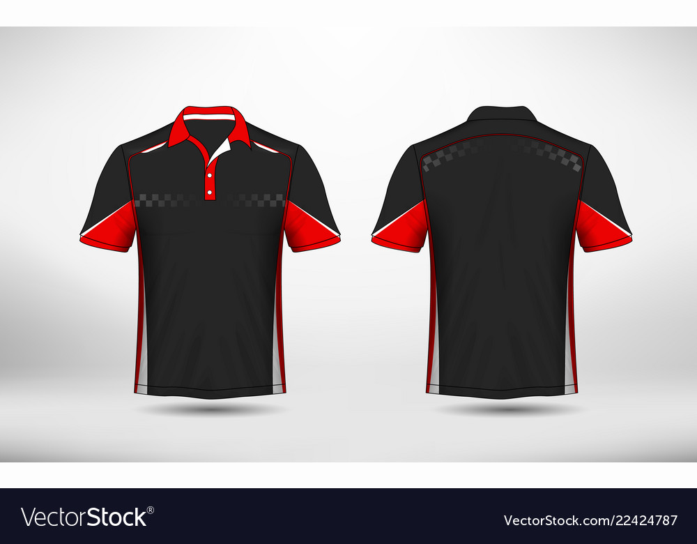 50c852e36 Red black and white layout e-sport t-shirt design Vector Image